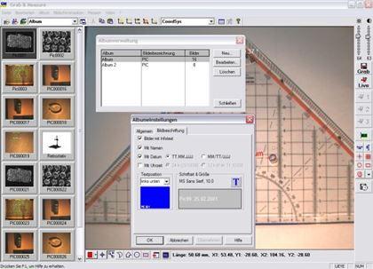 Die aktuelle Version unserer Bildverarbeitunggssoftware ist Grab & Measure 4